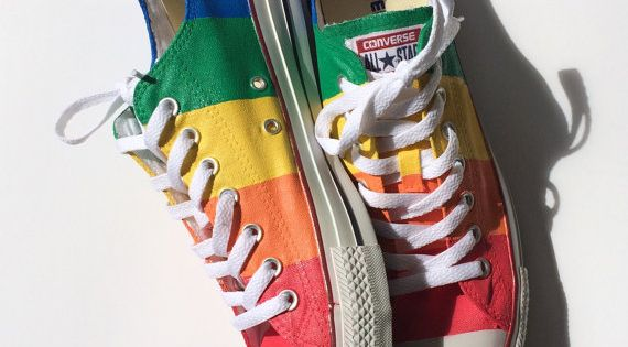 Marriageequality Gaypride Converse Shoes By