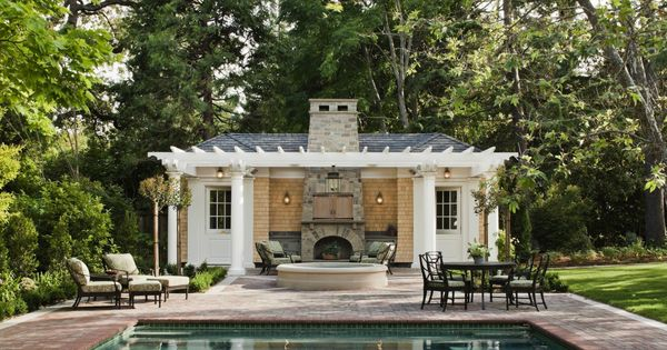 Pool House Challenge Fire Places Guest Houses And