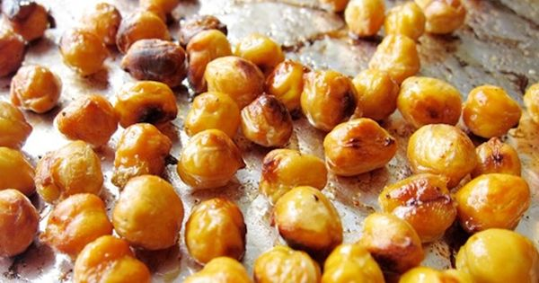 Healthy snacks--- Drain and rinse 1 can of chickpeas and add to