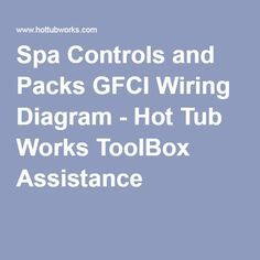 Spa Controls And Packs Gfci Wiring Diagram Hot Tub Works Toolbox Assistance Spas Require A Dedicated 220v Servi With Images Gfci Spa Box Hot Tub Controls