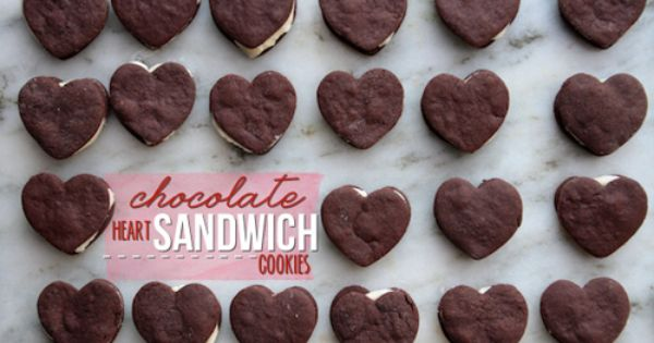 Chocolate Heart Sandwich Cookies from Shutterbean aka @Tracy Benjamin
