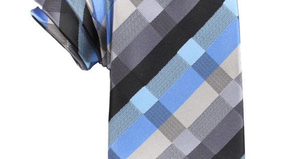 Black Grey Silver Blue Pattern Tie | Necktie | $35 | Australia | OTAA