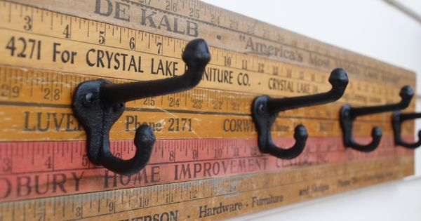 vintage rulers Pinterest++ for iPad cute idea for the sewing room