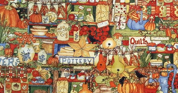 SOLD by the FULL YARD! Harvest Market by Wilmington Prints