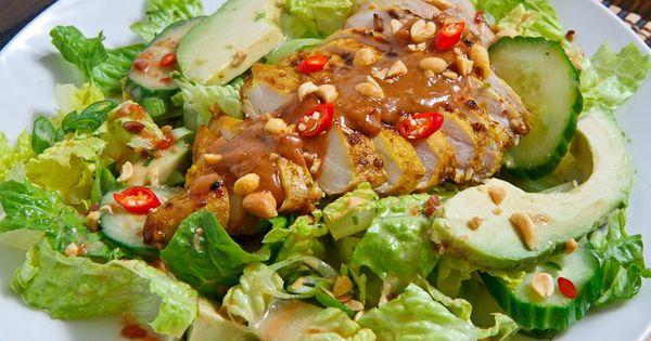 Thai Grilled Chicken Satay Salad recipe