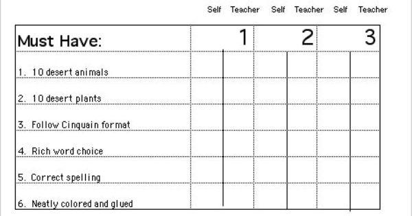 Line Art Rubric Grade 3 : Art rubrics elementary grade level rubric for cinquain