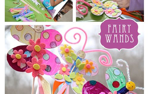 Fairy Princess Party Printable Supplies - Butterfly Wand Party Activity