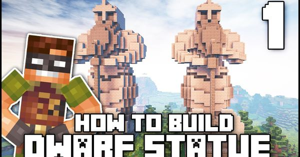Minecraft How To Build Dwarf Statue Part 1 Plans