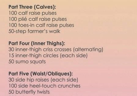 Victoria Secret Workout: Do each circuit 2-3x (do the first 4 circuits