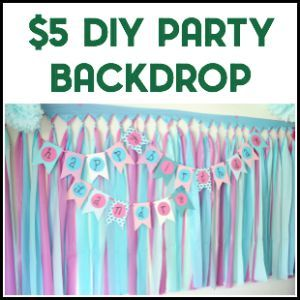 Diy Party Background For 5 Or Less Diy Party Background Party Background Backdrops For Parties