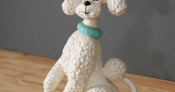 Etsy Purchase Vintage Poodle Statue Ceramic Dog Figurine