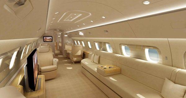 Elegant Private Jet Interior Design Is Designed Using The Amazing Idea Modern Luxury Private