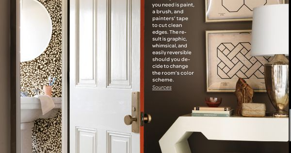 Painted door edge – LOVE that! @ Home Designs