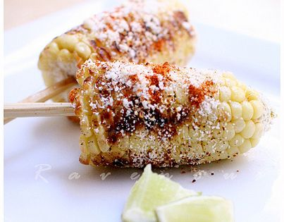 Cuban/Mexican Grilled Corn by the ravenouscouple: Smoky sweet, spicy and tangy! Corn
