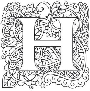Mendhika Alphabet Urban Threads Unique And Awesome Embroidery Designs Alphabet Design Coloring Letters Embroidery Letters