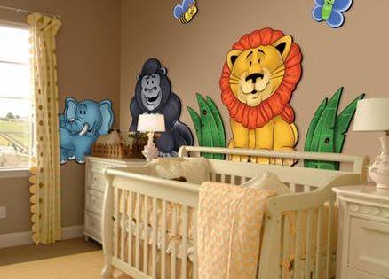 Best selling 3d nursery wall murals jungle animals are for Mural sekolah rendah
