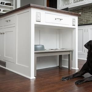 Built In Dog Feeder Kitchen Kitchen Island With Dog Bowls