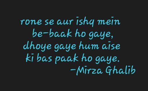 Mirza Ghalib   Shayari   Pinterest   Mirza ghalib