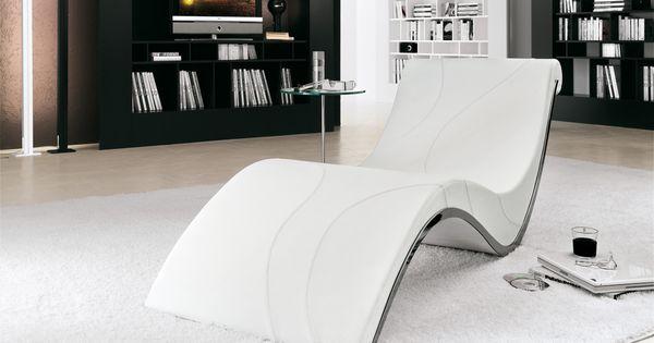 Moderne Chaiselongue in ergonomischem Design Weiß Rocker von Splinterworks