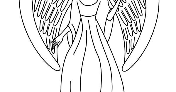 angels picture of beautiful angels coloring page lineart angels pinterest