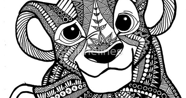 Disney Zentangle Coloring Pages : Zentangles disney buscar con google drawing