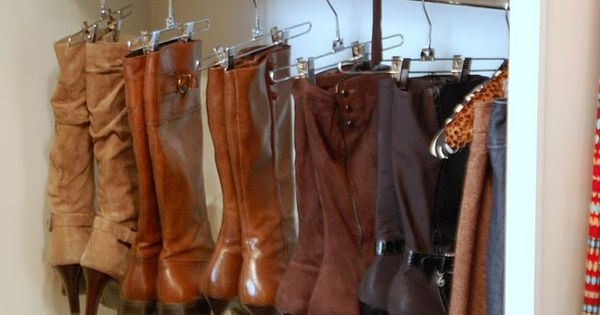 Great idea for those boots if you have enough closet space.