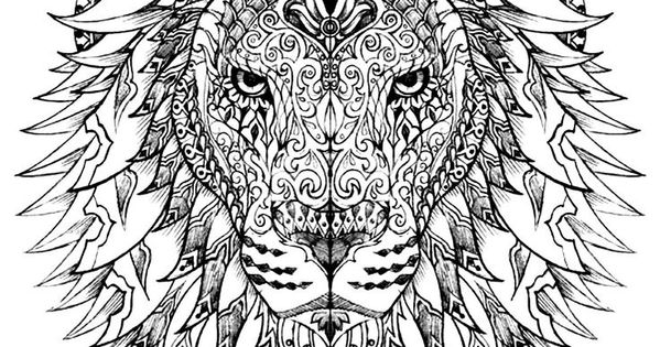 Free coloring page coloring-adult-difficult-lion-head ...Lion Head Coloring Pages For Adults