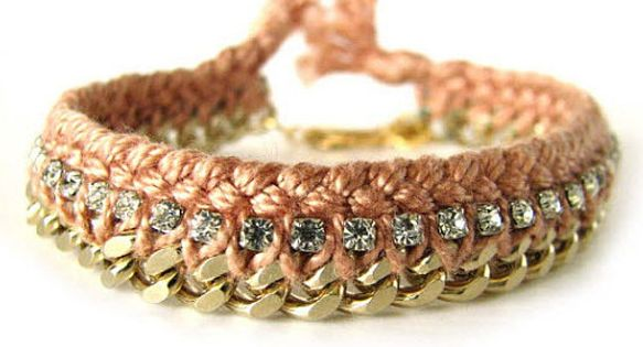 Gold Chain Bracelet by Chai Kim Shop @ uncovet // Hand tied