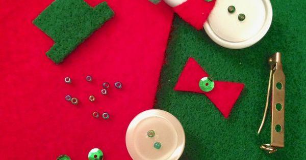 button snowman pins