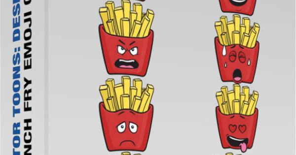 french fry emoji collection 4 fries emoji french fries french fry emoji collection 4 fries