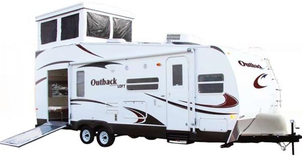 The outback loft looks like no other rv in the market the for Rv with loft