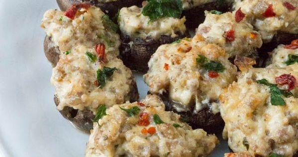 Spicy Sausage Stuffed Mushrooms | Recipe | Sausages, Stuffed Mushrooms ...