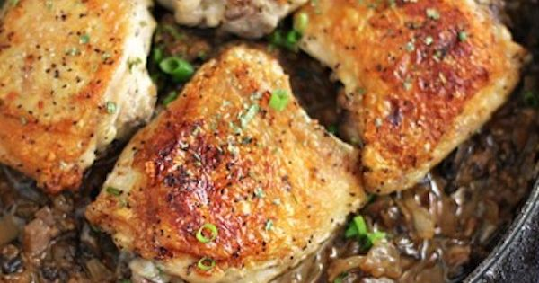 Jacques Pepin's Crusty Chicken With Mushrooms And White Wine Recipe ...