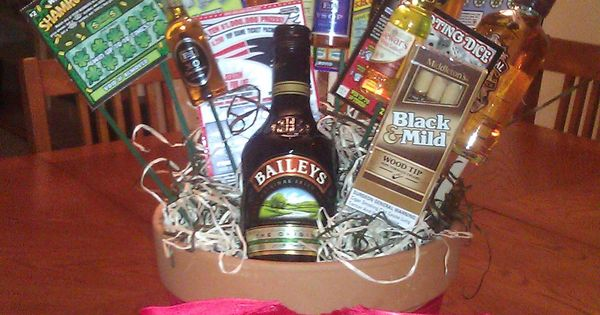 A man gift basket for dad!