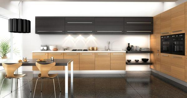 küchenschrank küchenschränke design holz modern esstisch | Ideen ... | {Küchenschrank modern 56}