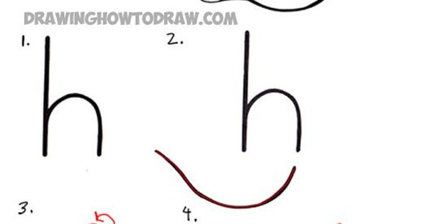 how to draw the letter h