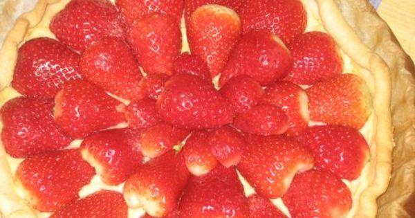 Tarte aux fraises http://www.tarte-aux-fraises.info/recette-tarte-aux ...