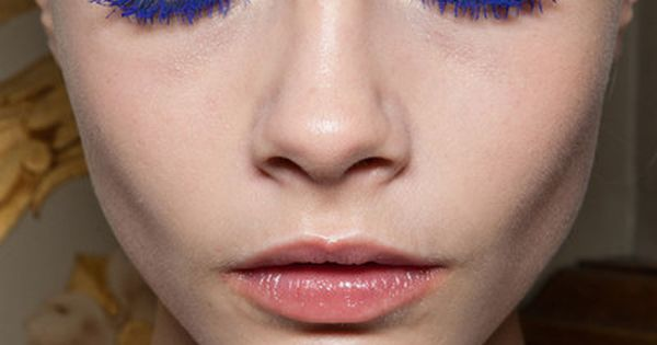 Electric blue eyes seen at Stella McCartney Fall/Winter 2012-2013. Cara Delevingne.