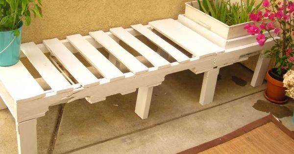 Reciclaje de palet muebles hechos en casa imagenes de for Reciclaje de palet