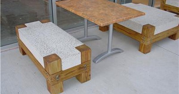 concrete and wood furniture. concrete bench with wood legs furniture ancient art countertops austin and