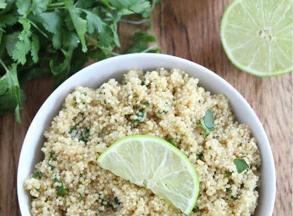 Cilantro Lime Quinoa Recipe 2 cups vegetable broth 1 cup quinoa, rinsed