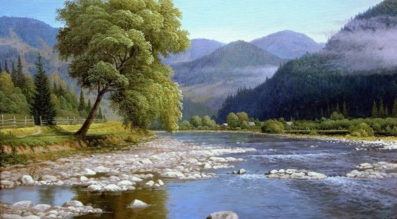Spring Mountain Landscape Oil Painting Realism Oil Painting Etsy Oil Painting Landscape Landscape Paintings Original Large Painting