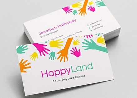 Child Care Business Card Template Free Jpg Google Docs Illustrator Word Apple Pages Psd Publisher Template Net Free Business Card Templates Business Card Template Business Card Design