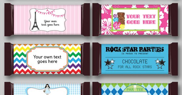 Diy Candy Bar Wrapper Templates Personalized Candy Bars
