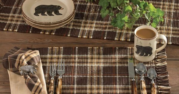 Rustic kitchen curtains - Rustic Retreat Placemats Amp Napkins By Park Designs Set Of