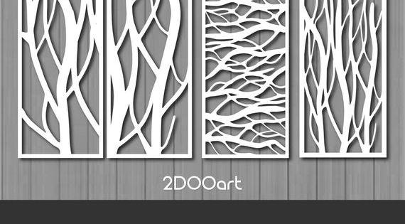 Sie Erhalten Diesen Satz In 4 Dateiformaten Svg 4 Vektordateien Unbegrenzte Anpassung Ohne Qualitatsverlust Dwg 4 Ve Tree Wall Art Tree Patterns Tree Wall