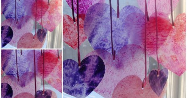 Avec du papier sulfuris des copeaux de crayons la cire - Pinterest bricolage st valentin ...