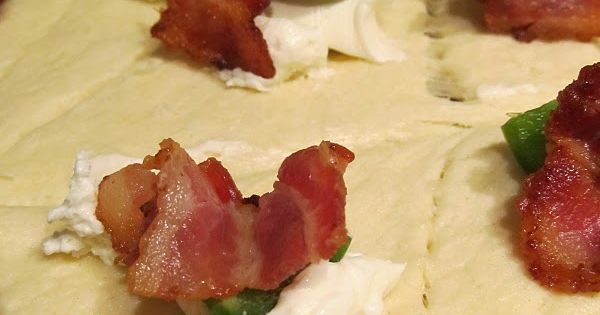 Jalapeno bacon poppers - cream cheese, bacon, jalapeno wrapped up in a