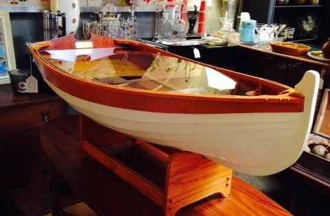 Row Boat Coffee Table Hand Crafted Wooden Nautical Posts Cas And Boats