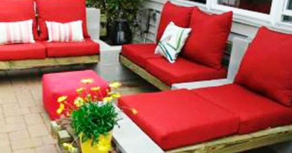 DIY Outdoor Furniture Using Cement Blocks